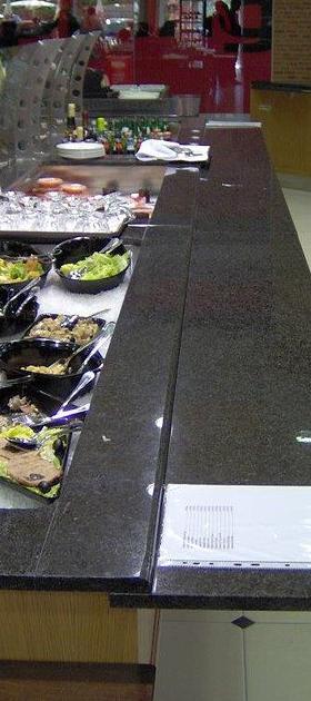 Buffets refrigerados com e sem placa de gelo